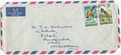 I4021 Air cover to UK, 1971? 10c and 4c bird stamps