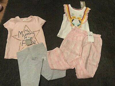 M&s, Next Girls Summer Bundle Most New Age 3-4 Leggings, Trousers, Tshirt Vest