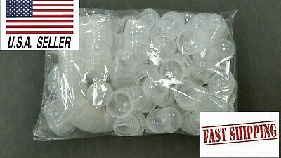 50 Clear Round Vending Machine Capsules, Empty Cases for Gumball Containers, Toy