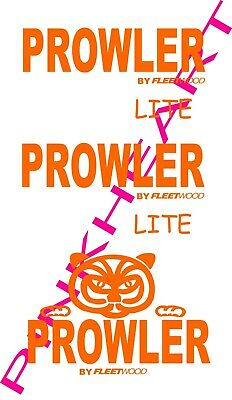 Fleetwood prowler 2 Small decals RV sticker decal graphics trailer camper rv USA