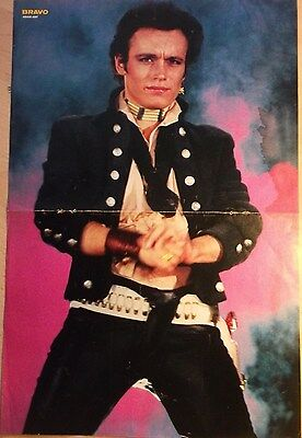 1 GERMAN POSTER ADAM ANT ANTS N  SHIRTLESS WAVE ROCK POP BOY