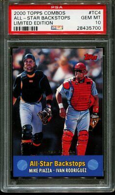 2000 Topps Combos Limited Edition #tc4 Mike Piazza Psa 10 B2527157-700