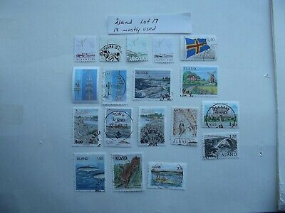 Stamps. Aland. Lot 17. 18 mostly used. Combine shipping.