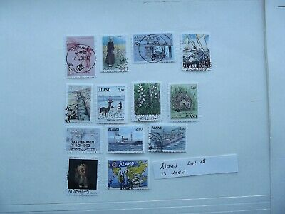Stamps. Aland. Lot 18. 13 used. Combine shipping.