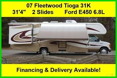 2007 Fleetwood Tioga 31K Used Gas Motor Home Class C RV Coach Motorhome Ford 6.8