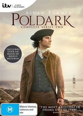 Poldark: Series Season 2 (DVD, 2016, 3-Disc Set), NEW SEALED AUSTRALIAN