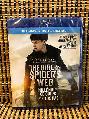 The Girl in the Spider's Web (2-Disc Blu-ray/DVD, 2019)Dragon Tattoo 4/Larsson