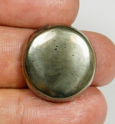 33 Ct Pendant Size Natural Apache Gold Pyrite Round Cabochon Loose Gemstone B316