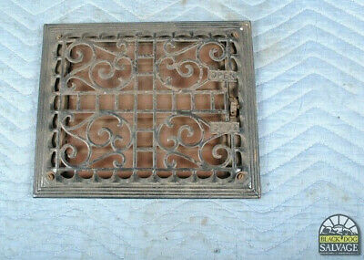 """BEAUTIFUL Cast Iron Wall Register Grate with Louvers 11.5"""" x 9-5/8 Salvage"""