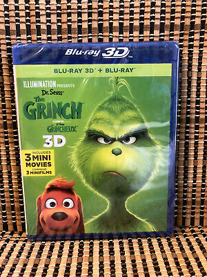 The Grinch 3D (2-Disc Blu-ray, 2019)Dr. Seuss/How Stole Christmas/Cumberbatch