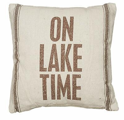 DECOR ART PRINT On Lake Time by Sparx Studio Cabin Vacation House Poster 19x13