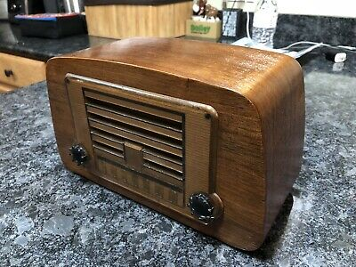 Vintage Emerson Eames Tube Radio 588a Refinished- Works!