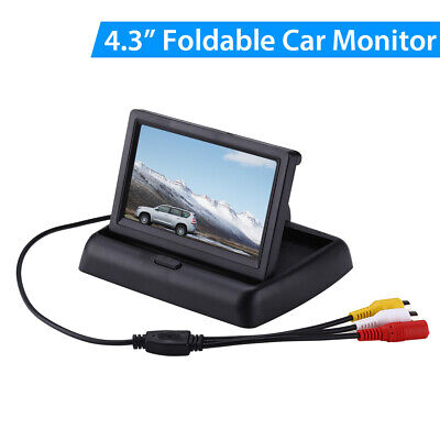 """4.3"""" Inch Foldable Color TFT-LCD Car Monitor 2 Way Video Input for Truck Car GPS"""