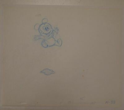 CUTE Mickey Mouse Baby LUVS Diaper Commercial Original Production Drawing Disney