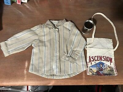 American Girl Kit Hobo outfit & Accessories Supplies (NWOB) can shirt RETIRED