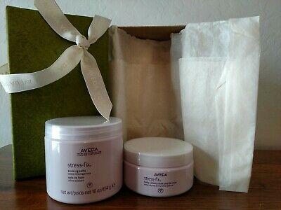 "AVEDA ""Stress-Fix"" 2 pc Boxed Gift Set 16 oz Soaking Salts & 8 oz Body Creme"