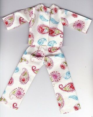 Doll Clothes-CUTE Sewing Print Pajamas that fit Barbie-Homemade BP4
