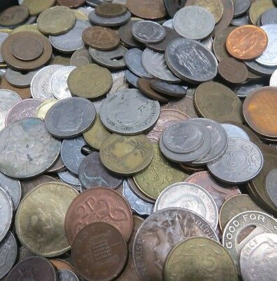 5 lbs of Mixed World-Foreign Coins-Nice Mix+Bonus SEE LISTING-FREE SHIPPING