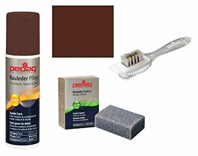 Pedag Suede Nubuck Color and Care Kit, Medium Brown, 3 Count