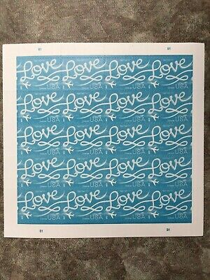 USPS Forever Postage Stamps 'love skywriting'- Same shipping for multiple sheets