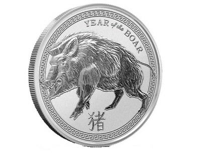 2019 1 oz .999 Silver Round - Year of the Boar | Volume Pricing