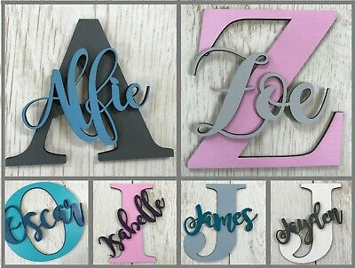 *ANY NAME & COLOUR* Personalised painted wooden letter with script name