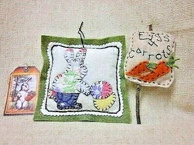 Eggs 4 Carrots.... with quilted bunny bowl fillers, shelf art