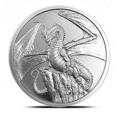 1 oz .999 Silver Round | The Welsh - World of Dragons | Volume Pricing