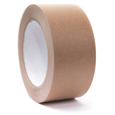 36 ROLLS RECYCLABLE PAPER CRAFT TAPE KRAFT BROWN 50mm x 50M ON SALE