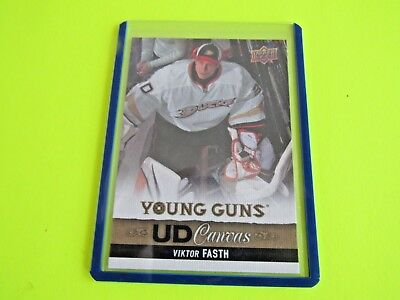 2013-14 Upper Deck Series 1  Young Guns Canvas Card C117  Fasth Combine Ship