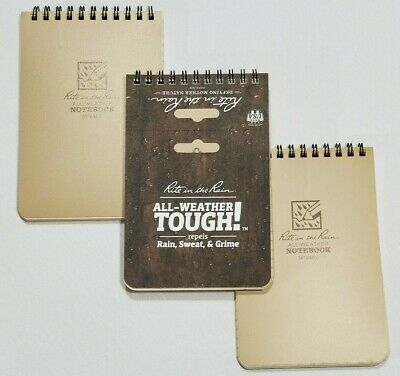"""Rite in the Rain 946T All-Weather Universal Pocket Top Spiral Notebook 4""""x6"""" 4x6"""
