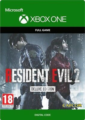 Resident Evil 2 Deluxe Edition Xbox One: Digital Code Delivery!