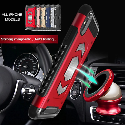 iPhone X, XS MAX, XR, 7/8 Plus Shockproof Magnetic Armour Case Card Slot Cover