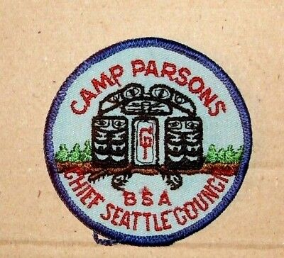 Vintage Boy Scout Badge - Camp Parsons Chief Seattle Council - BSA