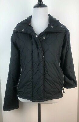 c4cd68c7ebc4 NIKE Sportswear Womens Quilted Jacket Black Coat Size S (4-6) EUC.