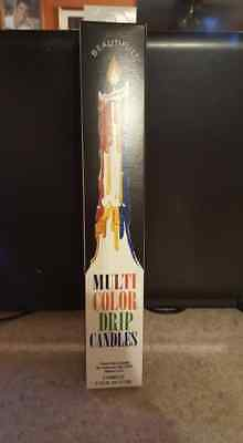 Multicolor drip candles   Wiccan Pagan Witch Magic