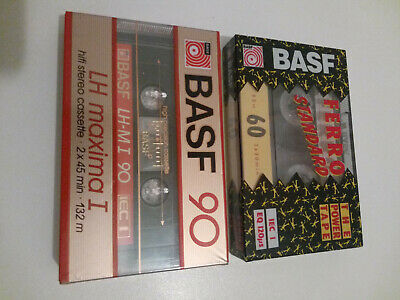 2x BASF blank cassette tapes - New and sealed ( see pictures )