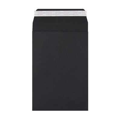 C4/A4 Black Gusset Envelopes, Pack of 40, Peel & seal, 180gsm paper, Free P&P