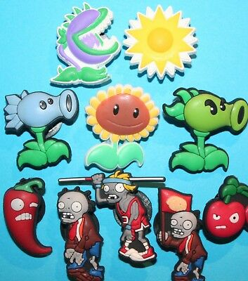 Plants vs Zombies Cake Decorations x 10 Cupcake Toppers Garden Warfare NEW
