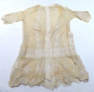 Antique VTG Victorian 1800's Handmade Hand Sewn Lace Infant Baptismal Gown Dress