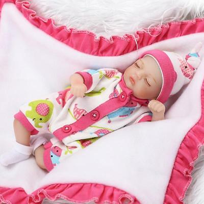 Cute Mini Handmade Reborn Baby Doll Alive Preemie Doll Vinyl Silicone Hands Baby
