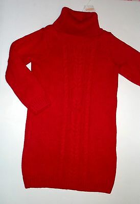 GYMBOREE WINTER CHEER RED CABLE COWL NECK SWEATER DRESS 4 5 6 7 8 9 12 NWT
