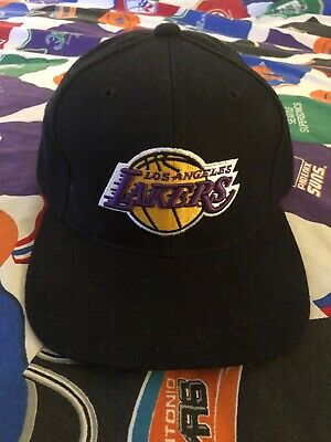 46fb1958668c70 Vintage Los Angeles Lakers Strapback Hat Cap NBA One Size Fits All 90's