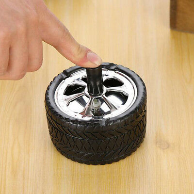Auto Pressure Tire Shape Practical Spinning Rotation Cigarette Ashtray one