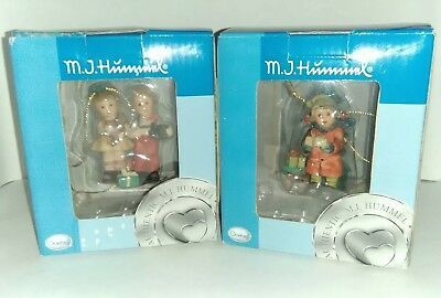 Goebel MJ Hummel Ornaments Set Of 2 NEW