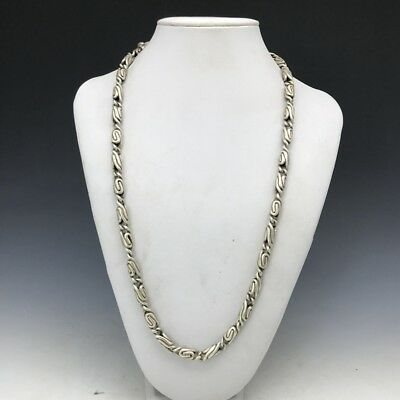 China's Tibet silver handmade craft fine necklace ly390