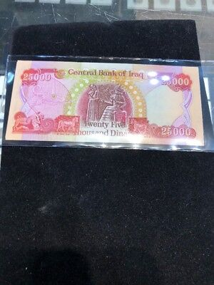 100,000 IRAQI DINAR CIRCULATED CURRENCY 4 x 25,000 25000 IQD