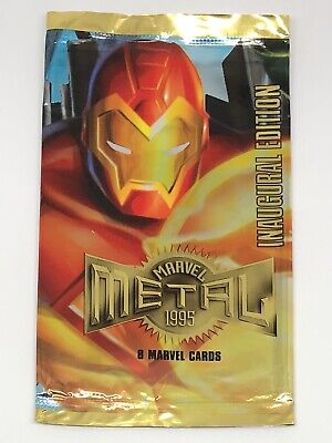 1995 Fleer Metal Spider-Man Inaugural Edition IRON MAN WRAPPER ONLY No Cards