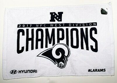 2017 Los Angeles Rams NFC West Division Championship Rally Towel