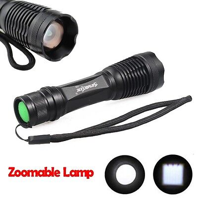 50000LM 5modes Zoomable Tactical T6 LED Flashlight Torch Lamp SuperBright Light